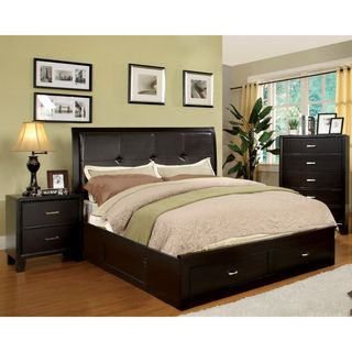 Furniture of America Ella 3--piece Queen-size Bed with Nightstand and Chest Set | Overstock™ Shopping - Big Discounts on Furniture of America Bedroom Sets