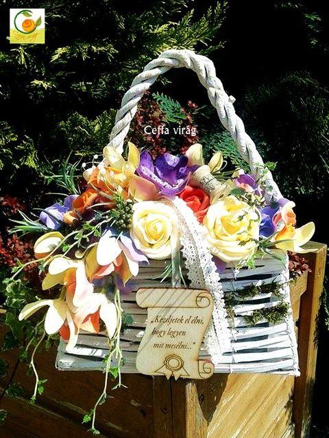 Ballagási emlék - táskavirág, Esküvő, Otthon, lakberendezés, Ruha, divat, cipő, Esküvői csokor, Meska