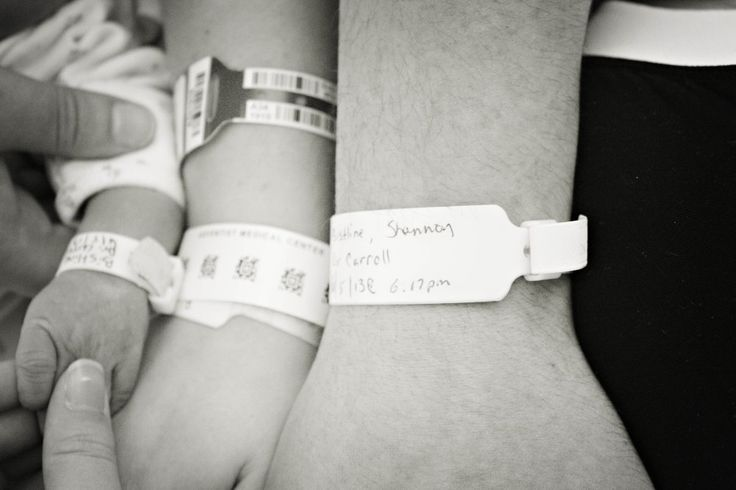All 3 hospital tags taken  together. Mom+ dad+ baby