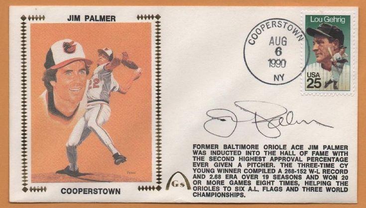 Jim Palmer BLEM Hall Of Fame Autographed Gateway Stamp Envelope - Postmarked #BaltimoreOrioles