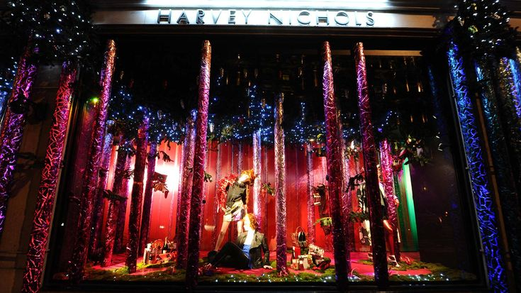 Harvey Nichols Christmas window displays theme 'The Enchanted Forest' brings you to a magical fairytale, where the mannequins are transformed into woodland creatures. Description from thebwd.com. I searched for this on bing.com/images