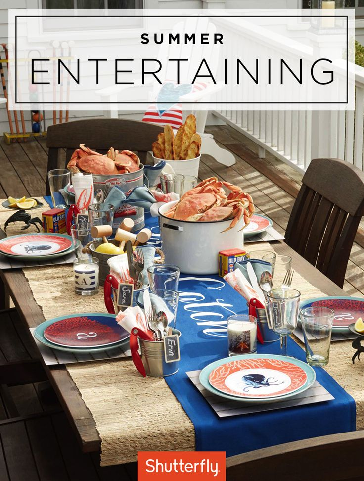 Spruce up your patio with these Summer entertaining ideas. Inspire guests with a Cape Cod Escape thoughtfully personalized with a coastal theme for the perfect weekend outdoor meal. | Shutterfly