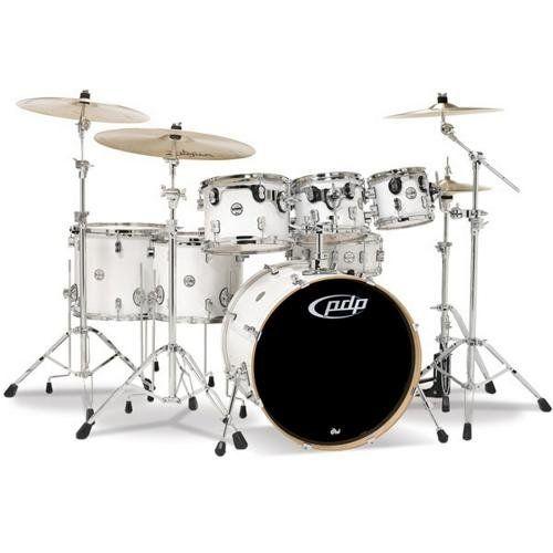 Pacific Drums PDCM2217PB Concept Series 7-Piece Drum Set – Pearlescent Black