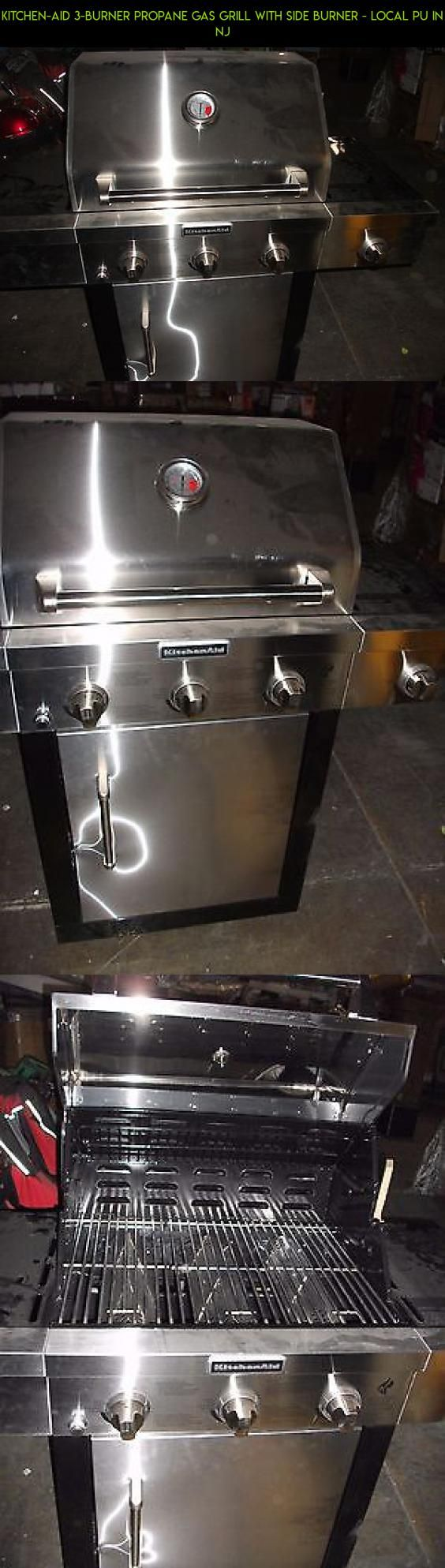 Kitchen-Aid 3-Burner Propane Gas Grill with Side Burner - Local PU in NJ #kitchen #grills #camera #tech #technology #kit #aid #parts #drone #gadgets #racing #products #plans #shopping #fpv