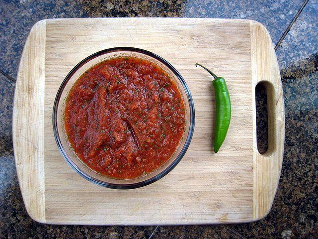Salsa Ingredients:  1 poundtomatoes 1 jalapeño, sliced in half and seeds removed 2 tablespoonolive oil 2 teaspooncumin 1 teaspooncayenne peppe...