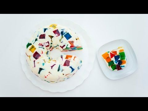 Stained Glass Jelly Cake - YouTube