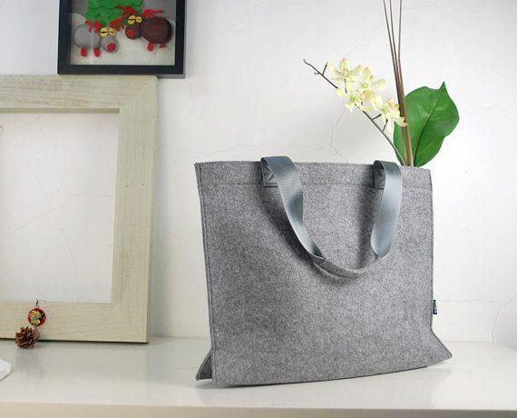 Felt Purse Unisex Shoulderbag felt Shopping Bag by Filzkraft, $25.00