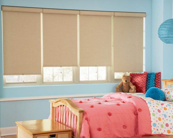 custom window roller shades blinds for bedroom window