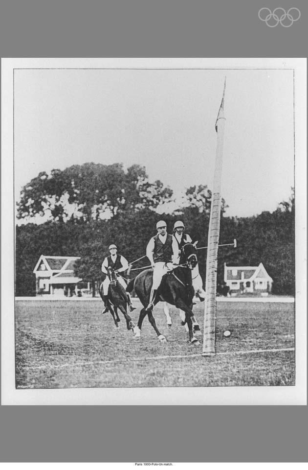 Paris 1900-Polo-A match.
