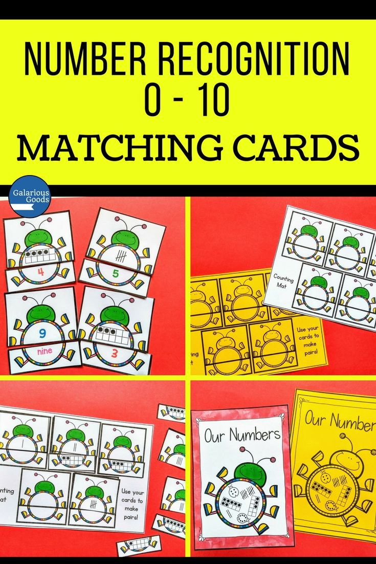 Reinforce number recognition from 0 - 10 with these engaging number match cards. Perfect for math in kindergarten, prep or foundation classes, these reinforce numbers, numerals, number names, tally marks, 10-frames and counting and meets your maths curriculum. Includes poster, organising board and black and white versions #math #maths #galariousgoods