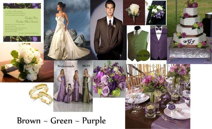 Brown, Green and Purple wedding compilation