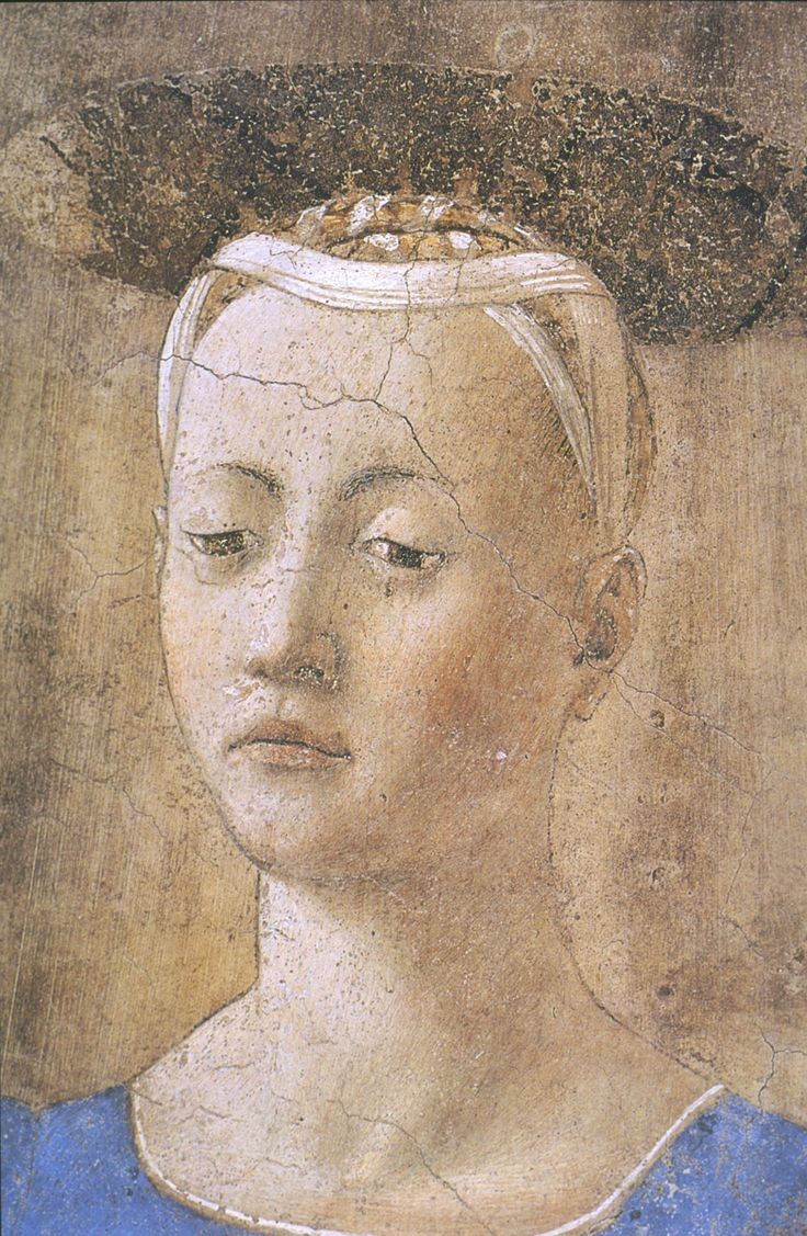 Madonna del parto (detail) (ca.1455-1465)  - Piero della Francesca - Museo Madonna del Parto, Monterchi