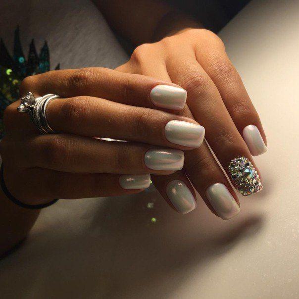 Ногти дизайн 2016 фото | Acrylic nails, Nails, White nails