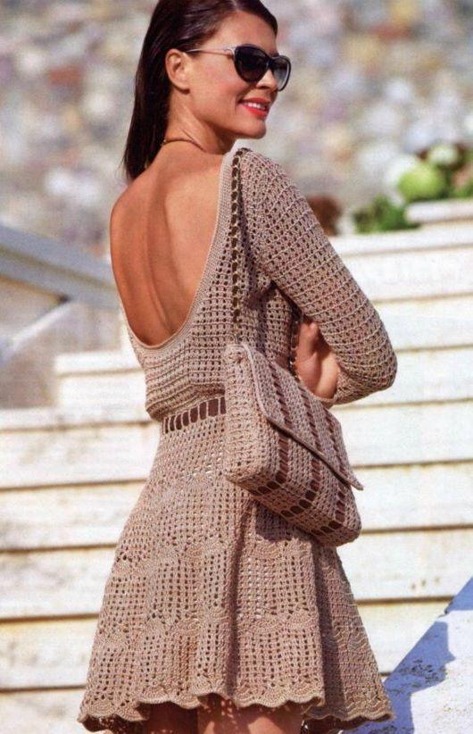 just eye candy, but so gorgeous crochet dress