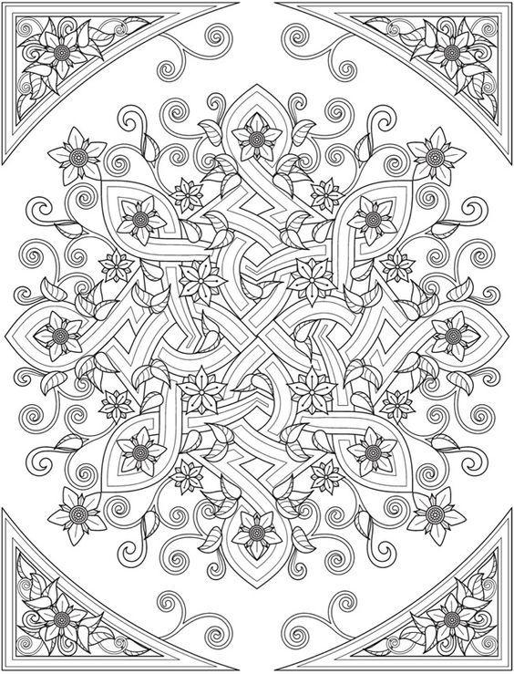 Mandala celta | mandalas | Mandalas, Libros para colorear y Colores