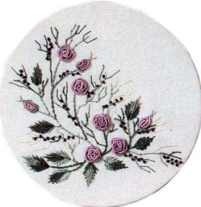 Brazilian Embroidery Design: Bossa Nova Rose