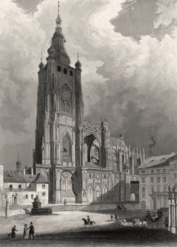 """""""Prague and his environments"""" by Image Artist Ludwig Lange and engraver Johann Poppel (1841)"""