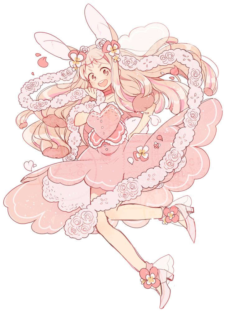 1girl animal ears blonde hair blush choker collarbone dress flower frilled dress frilled skirt