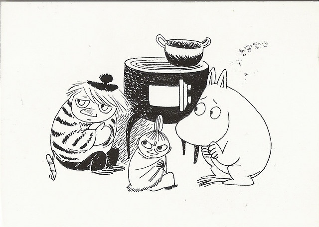 moomins - some found them scarey - I did not :D