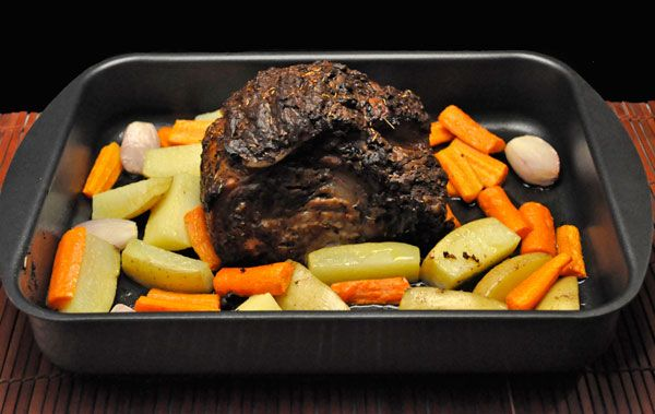 Slow Roasted Pork Loin, Potatoes, Carrots & Shallots, it takes some time but very little attention for an easy, delicious oven dinner