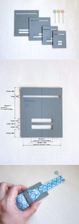 Как сделать устройство для косой бейки из подручных материалов (How to make your own bias tape.)