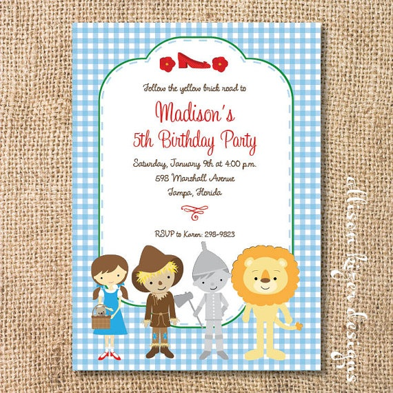 1000 images about Wizard of Oz Birthday Party – Wizard of Oz Birthday Party Invitations