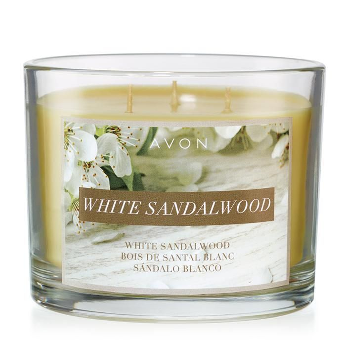 White Sandalwood Candle. Burn the White Sandalwood Candle for a spicy-sweet mix of black pepper, vanilla orchid and sandalwood.