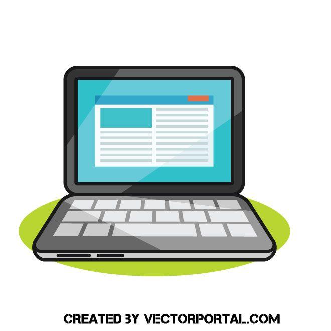 Laptop Computer Cartoon Clip Art Cartoon Clip Art Clip Art Computer