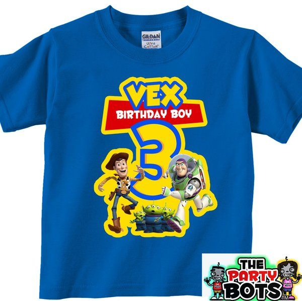 Custom Toy Story Birthday Party Shirt Personalized Gifts