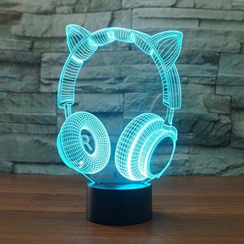 3d Lampe Illusion Optique Led Veilleuse Easehome Optiques Illusions Lampe De Nuit 7 Couleurs Tactile Lampe De Chevet Chambre Table A Pour La Chambre V 2019