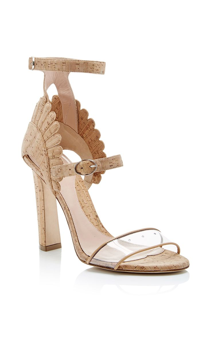 Cork Double Strapped Ninfea Sandals With Scalloped Back by PAULA CADEMARTORI Now Available on Moda Operandi