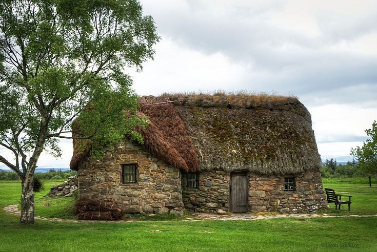 The most sacred place in Scotland..only surviving building after the Battle of Culloden was the Old Leanach Cottage  inhabited until 1912 then preserved by the Gaelic Society of Inverness. The Cottage is now kept by the National Trust for Scotland, as is the Moor  it's been refurbished to look of 18thC.. There were surrounding barns but they were burnt  when Gov't redcoats found 30 wounded Jacobites seeking refuge in them. They barricaded the barn, burnt the Jacobites alive.