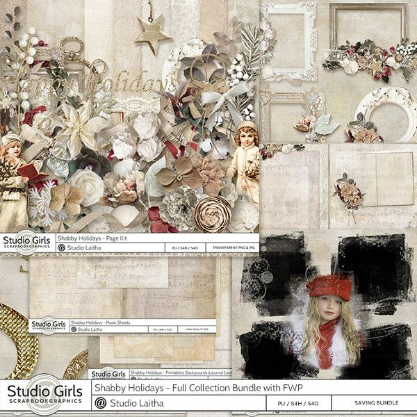 **NEW** Shabby Holiday by Laitha's Designs   Available @  http://shop.scrapbookgraphics.com/Laitha/