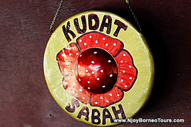 Rafflesia painted on the gong representing Sabah