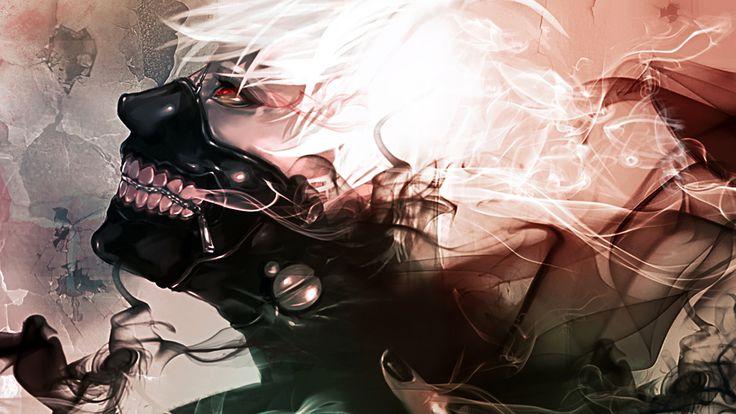 hd tokyo ghoul wallpapers | tokyo ghoul anime ken kaneki smoke red eyes mask