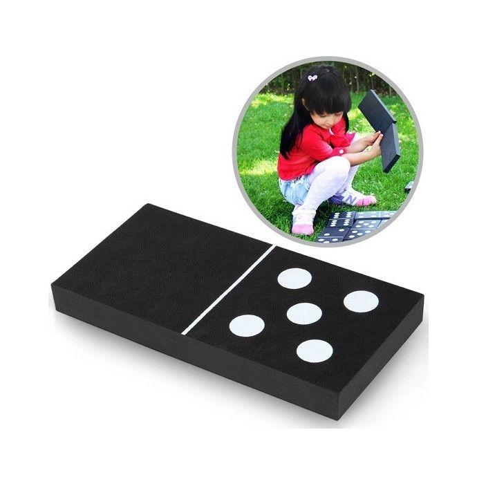 Puutarha Domino, 64,95 €. Dominopeli on jo vuosia vanha rakastettu klassikko peli. Kiitos sen yksinkertaisten sääntöjen, sen pelaamiseen voi osallistua koko perhe. Nämä 28 suurikokoista dominopalikkaa on tehty kestävästä kokomuovista, ja on siksi loistava valinta niin sisä-, kuin ulkoleikkeihin. 2-4 pelaajaa. Ilmainen kotiinkuljetus! #domino #puutarhadomino