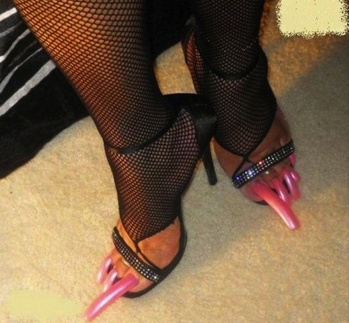 pedicure time? eeewwww.. Seriously think about walking in high heels.... How does she walk in those without looking like a duck.... are u picturing it in ur head... cause I am....