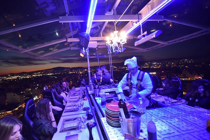 Dinner in the sky, Athens