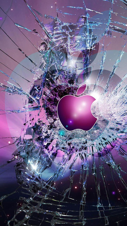 Apple Watch Face - Apple burst. purple blue apple