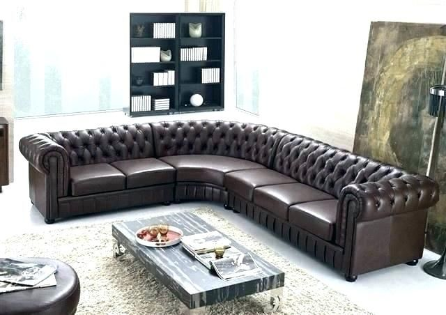 Brown Leather Tufted Sectional Sofa Https Www Otoseriilan Com In 2020 Tufted Sectional Sofa Tufted Sectional Sofa Design