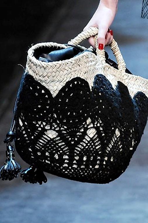 Sac Paille & Crochet Bag
