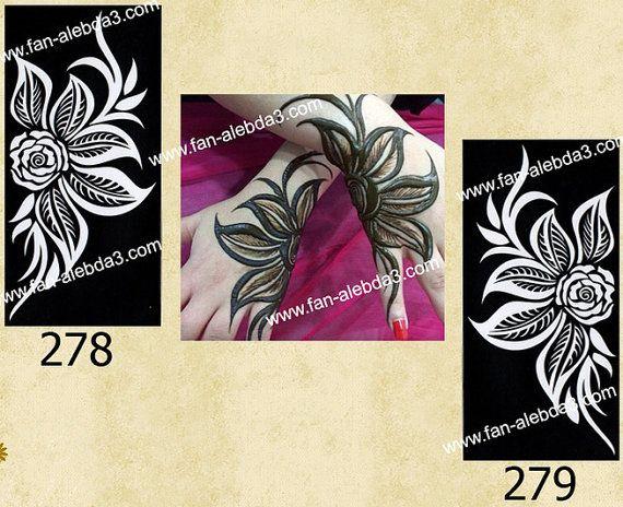 Arabic design Henna Tattoo stencil stickers by Indoarabfashions