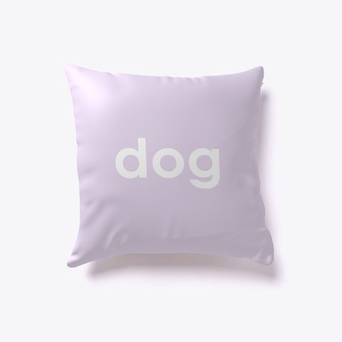 Dog And Cat Reversible Pillow Light Purple. Dog lover? Cat lover? Evenly split household? Now you can show your love for both with our reversible dog-cat pillow. Just turn it over to impress guests who love one over the other. Buy one today!