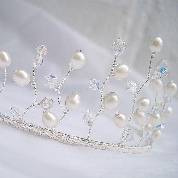 Bridal Hair Accessories  Wedding Tiara  by WeddingAndGems on Etsy, £44.00