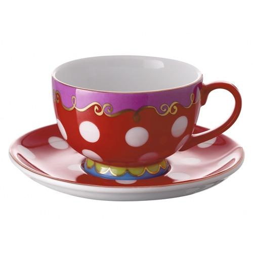 Oilily china pattern for Douwe Egberts: tea coffee espresso