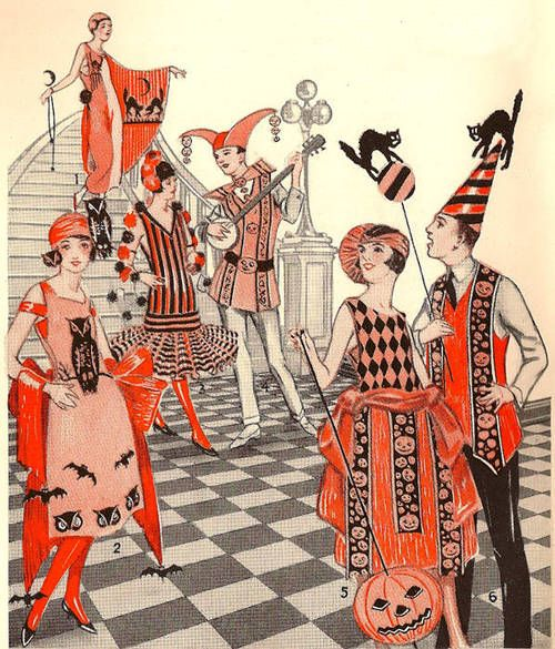 vintage halloween costume illustrations depicted in dennisons bogie book a 1922 guide for vintage decorating and entertaining at halloween and