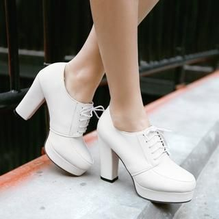 Buy 'Shoes Galore – Lace-Up Platform Pumps' with Free International Shipping at YesStyle.com. Browse and shop for thousands of Asian fashion items from China and more!