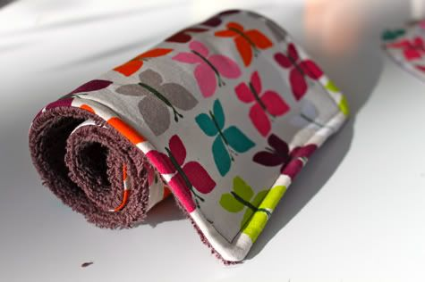 DIY burp cloth...looks super easy