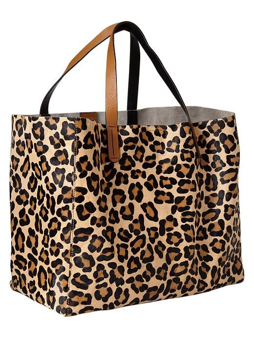 Animal print calf hair tote from The Gap.
