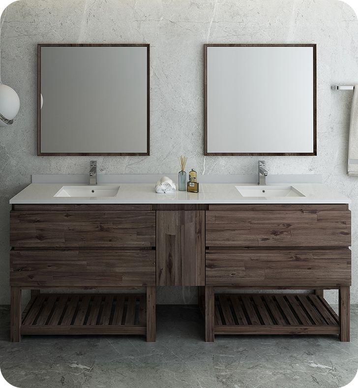 Fresca Fvn31 361236aca Fs Formosa 84 Floor Standing Double Sink